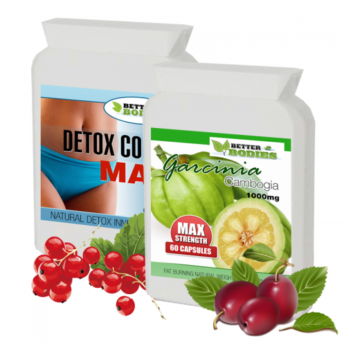 Pure Garcinia Cambogia 1000mg & Detox Colon Max Combo Pack