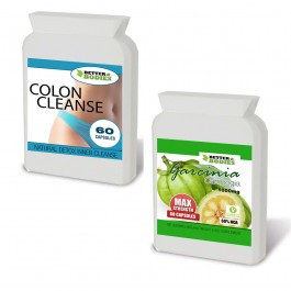 Garcinia Cambogia 60% HCA 1000mg & Colon Cleanse Max Combo Pack