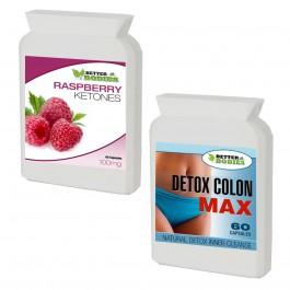 Raspberry Ketone (60) & Detox Max Colon Cleanse (60) Combo Pack