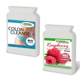 Raspberry Ketone 600mg Colon Cleanse Max Combo Pack