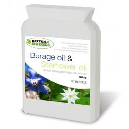 Starflower Oil (Borage Oil) 500mg (50) Sofgels