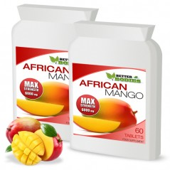 African Mango 6000mg Tablets (2 month supply)