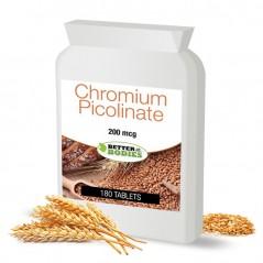 Chromium Picolinate 200mcg (180) Tablets