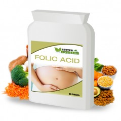 Folic acid 400mcg (90) Tablets