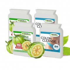 Pure Garcinia Cambogia 1000mg & Colon Cleanse Combo (2 month supply)