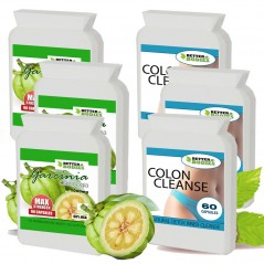Pure Garcinia Cambogia  1000mg & Colon Cleanse Combo (3 month supply)