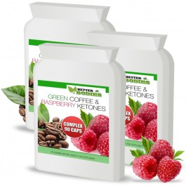 Raspberry Ketone & Green Coffee Bean Extract Complex™ (270) Capsules (Best value pack)