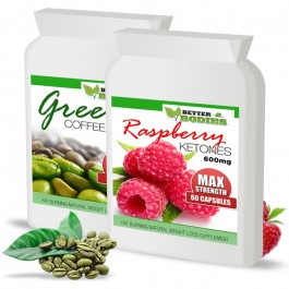 Raspberry Ketone 600mg & Green Coffee Bean 6000mg (60) Capsules