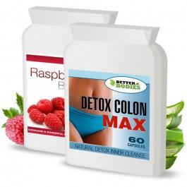 Raspberry Ketone Burn Plus™ & Detox Max™ Colon Cleanse Pack