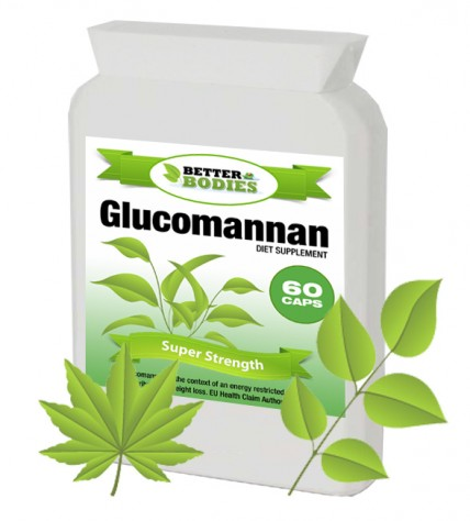 Konjac Glucomannan Fibre 500mg 10 day supply (60 capsules)