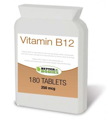 Vitamin B12 250mcg (180) Tablets