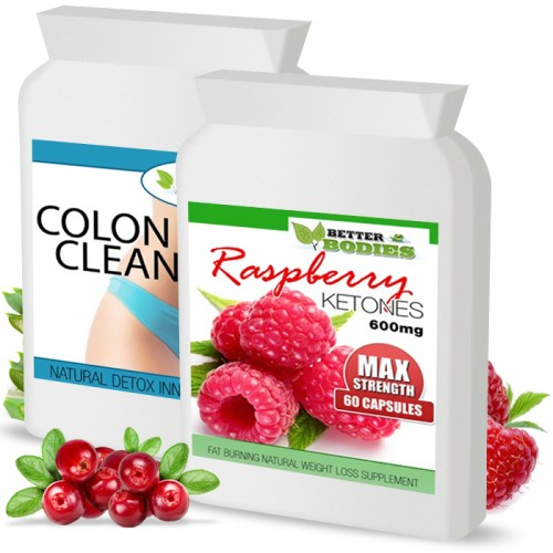 Raspberry Ketone 600mg Colon Cleanse Max Combo Pack