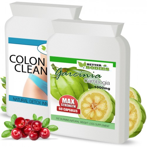 Pure Garcinia Cambogia 1000mg & Colon Cleanse Max Combo Pack