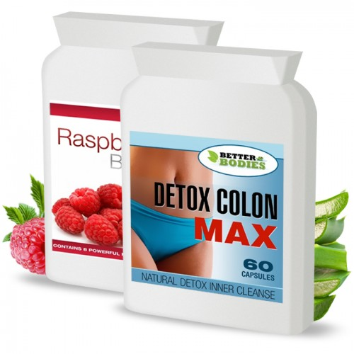 Raspberry Ketone Burn Plus™ & Detox Max™ Colon Cleanse Pack