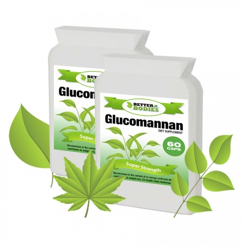 Konjac Glucomannan Fibre 500mg 20 day supply (120 capsules)