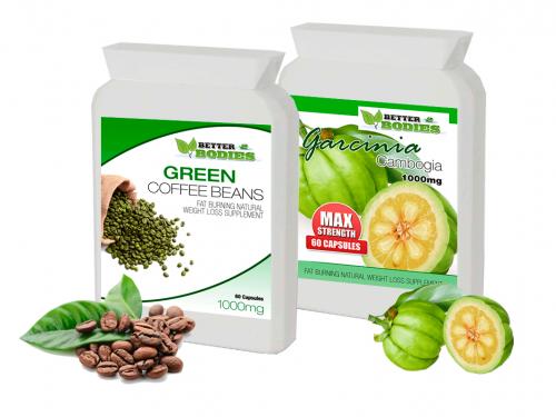 Green Coffee Bean Extract 1000mg & Garcinia Cambogia 1000mg (60) Capsules