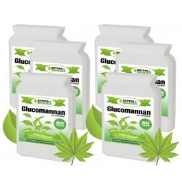 Konjac Glucomannan Fibre 500mg 2 month supply (360 capsules)