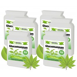 Konjac Glucomannan Fibre 500mg 2 month supply (360 capsules)