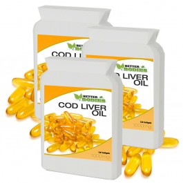 Cod Liver Oil 1000mg (360) Capsules