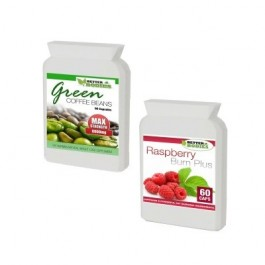 Raspberry Ketone Burn & Green Coffee Bean 6000mg (60) Capsules